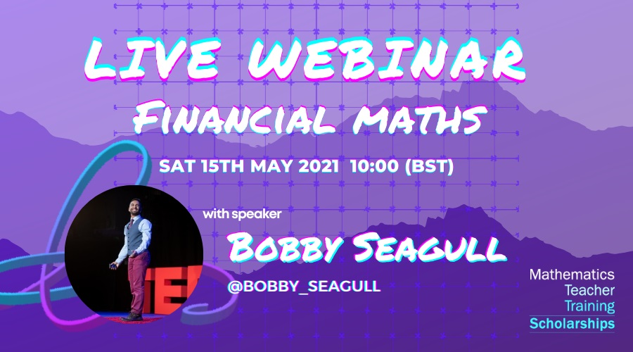 We are delighted to announce another CPD webinar, with speaker Bobby Seagull!
